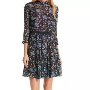 Rebecca Taylor Black Solstice Silk Dress Size 10